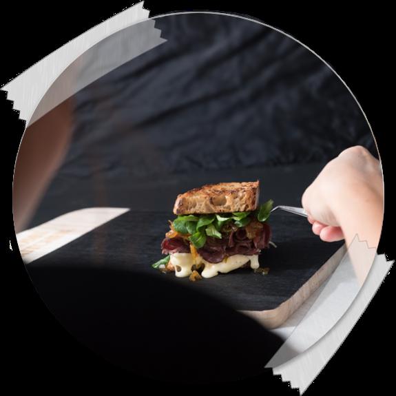 Food Styling bei Sandwich