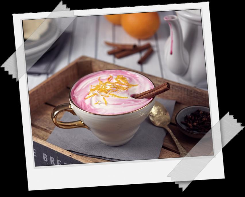 Pink Latte Food Styling