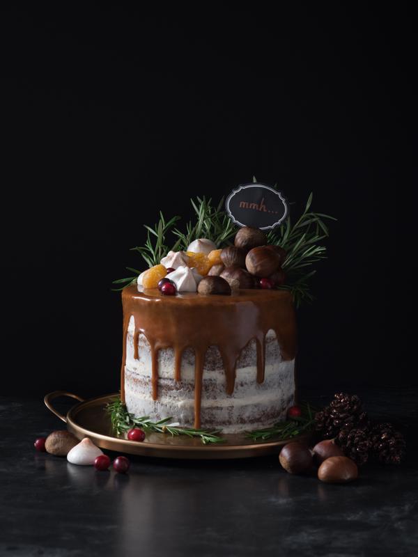 Drip Half-Naked Cake
