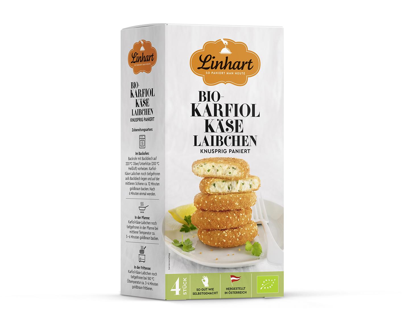 Packaging Bio-Karfiol-Käse-Laibchen