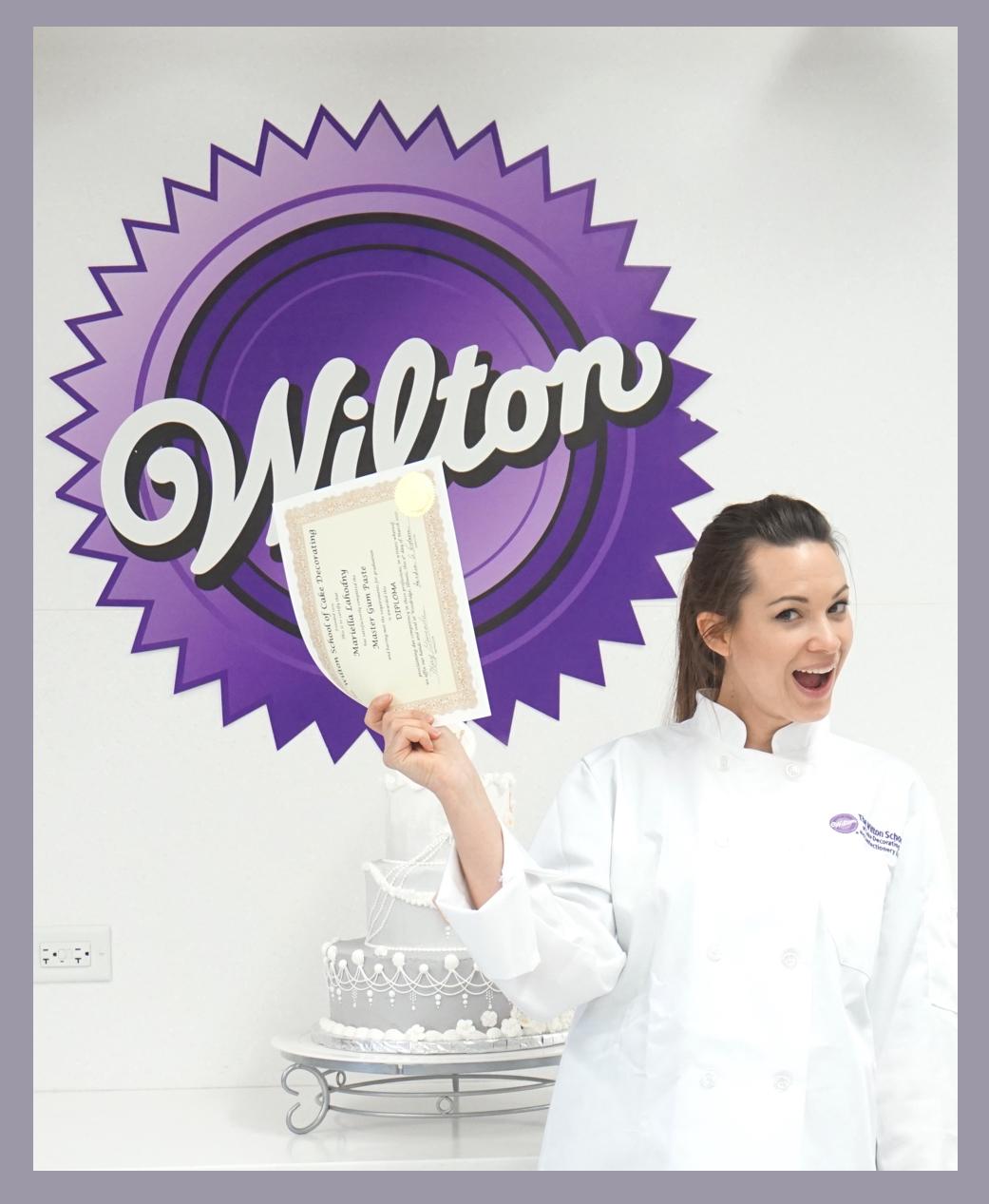 Mariella erhält Zertifikat der Cake Decorating Masterclass