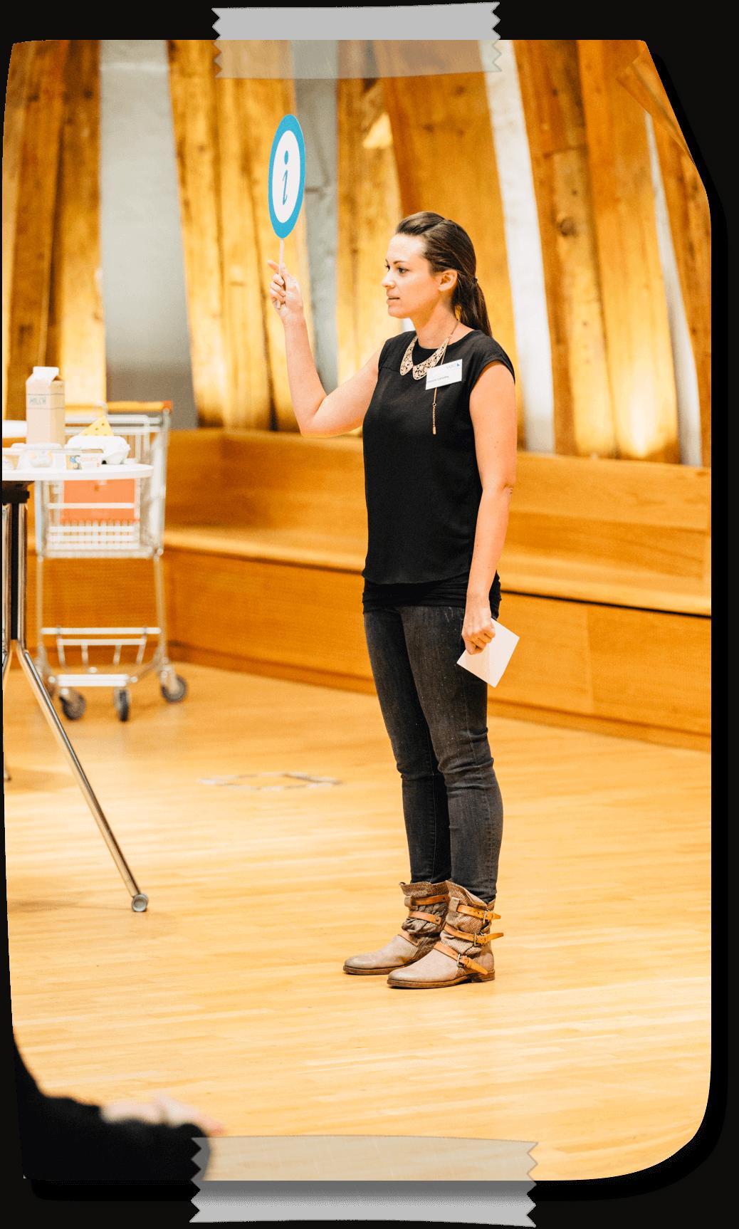 Mariella als Vortragende